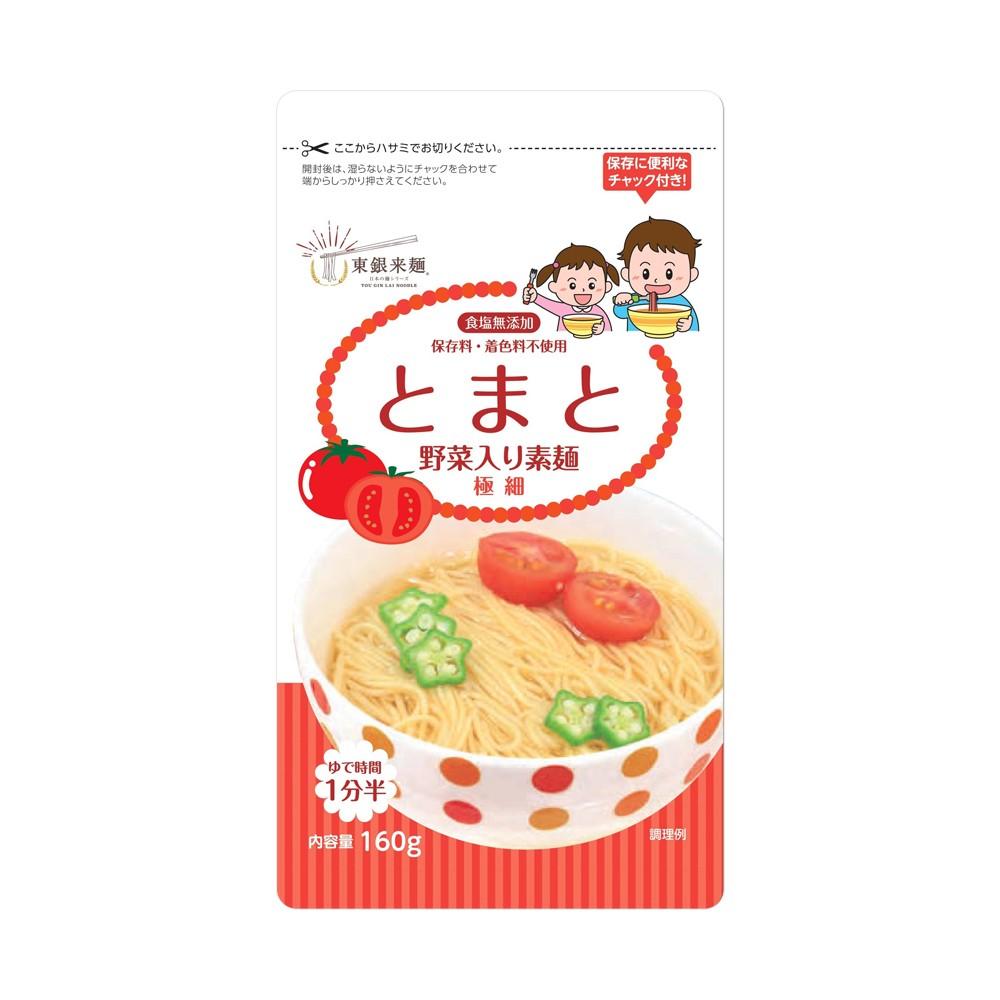 日本東銀來麵—無食鹽寶寶蔬菜細麵〈番茄〉