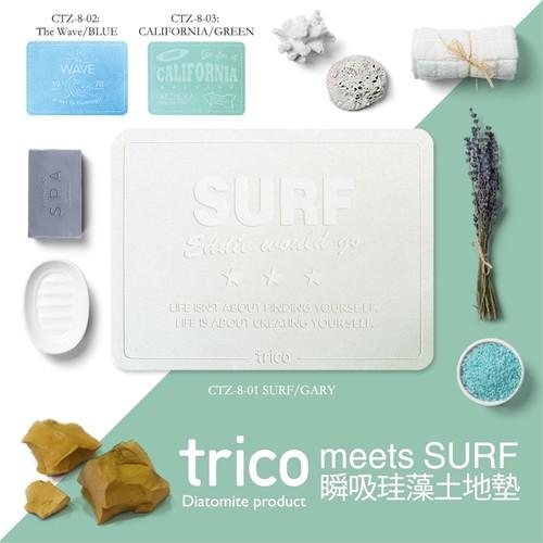 日本trico─meets SURF瞬吸珪藻土地墊
