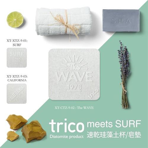 日本trico─meets SURF速乾珪藻土杯墊/皂墊〈1入組〉