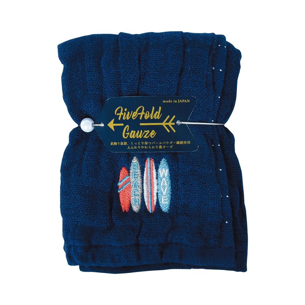 Nicott 日本五重珍珠紗方巾 〈仲夏海灘〉