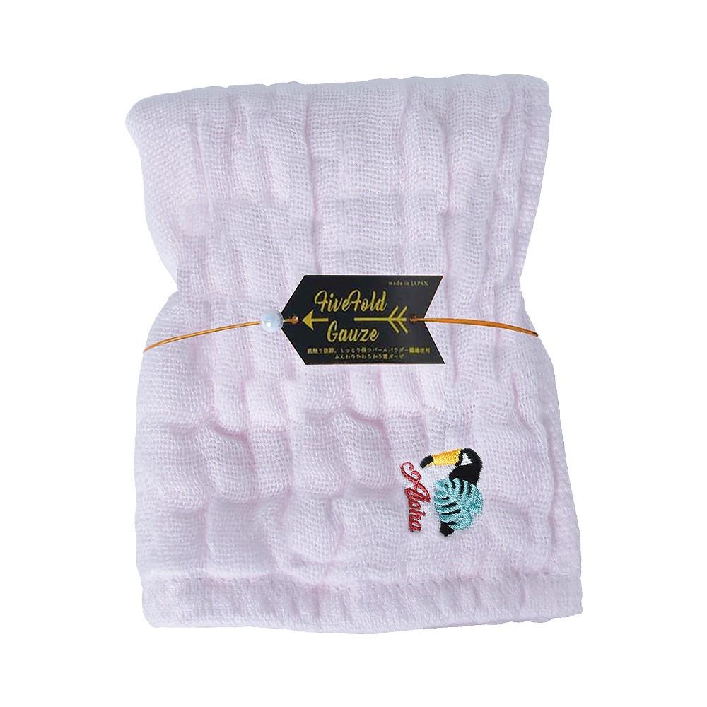 Nicott 日本五重珍珠紗毛巾 〈粉紅巨嘴鳥〉