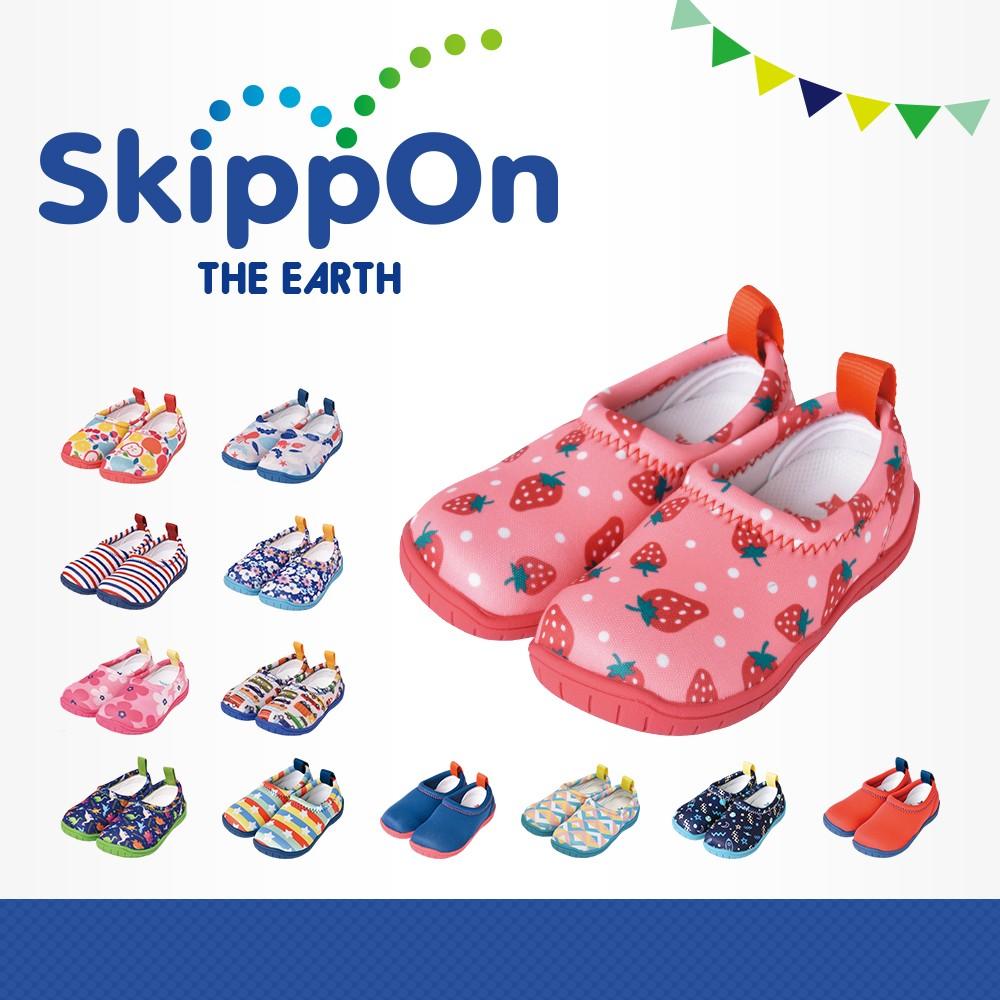 日本SkippOn─「ISEAL VU系列」兒童休閒機能鞋〈草莓點點 〉
