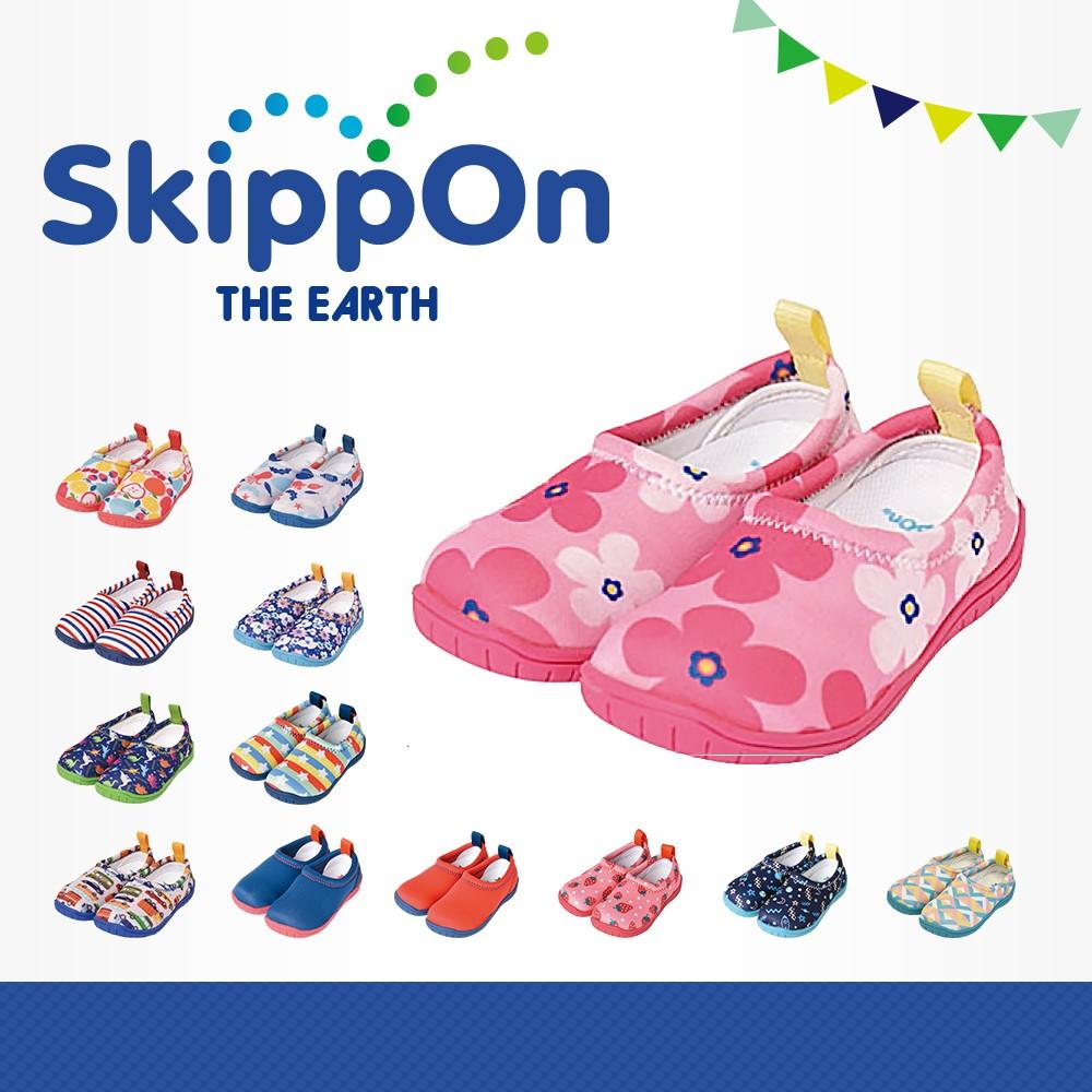 日本SkippOn─「ISEAL VU系列」兒童休閒機能鞋〈北歐花朵〉