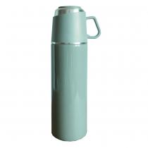 【日本ROCCO】 ONE PUSH & CUP 兩用保溫瓶(500ml)  莫蘭迪綠