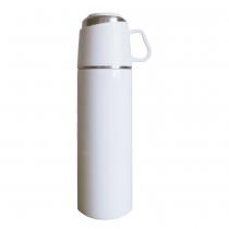 【日本ROCCO】 ONE PUSH & CUP 兩用保溫瓶(500ml)  象牙白
