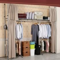 《衣世家》加寬型日式頂天立地伸縮衣櫥