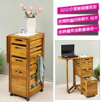 (預購-7/26出貨)《函館》鄉村風折合餐桌蔬果櫃