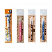 日本製 KAWAGUCHI—萬用極細簽字筆(黑) / Color極細簽字筆(棕/粉/藍) —兩入組