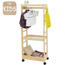 【na-KIDS】移動式兒童掛衣收納整理架