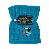 Nicott 日本五重珍珠紗方巾 〈土耳其藍巨嘴鳥〉
