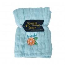 Nicott 日本五重珍珠紗方巾 〈水藍柳橙〉