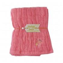 Nicott 日本五重珍珠紗毛巾 〈桃粉紅鶴〉