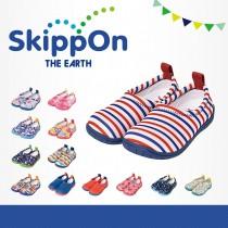 日本SkippOn─「ISEAL VU系列」兒童休閒機能鞋〈紅藍條紋 〉