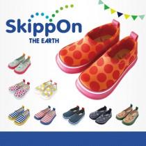 日本SkippOn─兒童休閒機能鞋〈普普紅點〉