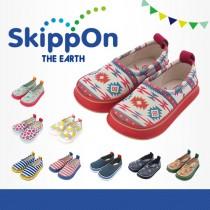 日本SkippOn─兒童休閒機能鞋〈粉彩圖騰〉