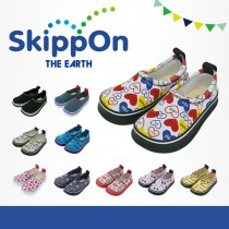 日本SkippOn─兒童休閒機能鞋〈風格愛心〉