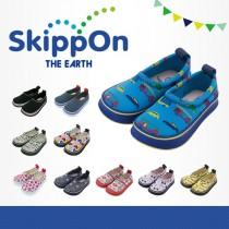 日本SkippOn─兒童休閒機能鞋〈藍底炫車〉