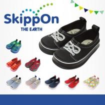 日本SkippOn─兒童休閒機能鞋〈黑底蝴蝶結〉