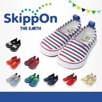 日本SkippOn─兒童休閒機能鞋〈紅藍條紋〉