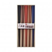 日本製 SUNLIFE 耐熱八角筷 – 彩色5入組