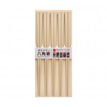 日本製 SUNLIFE 耐熱五角筷 – 原木色5入組