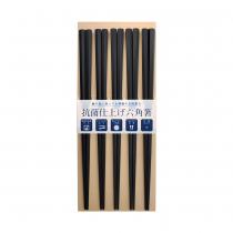 日本製 SUNLIFE 耐熱五角筷 – 黑色5入組