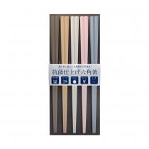 日本製 SUNLIFE 耐熱五角筷 – 彩色5入組