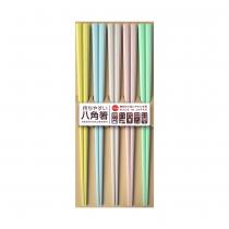 日本製 SUNLIFE 耐熱五角筷 – 馬卡龍色5入組