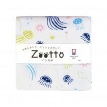 日本 Zootto今治認證速乾紗布方巾〈發光的水母 〉