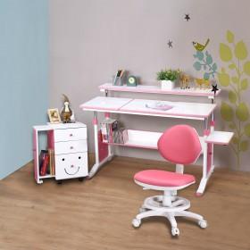 第五代【創意小天才】兒童專用調節桌(120公分寬)三件組(桌+櫃+素養家椅)